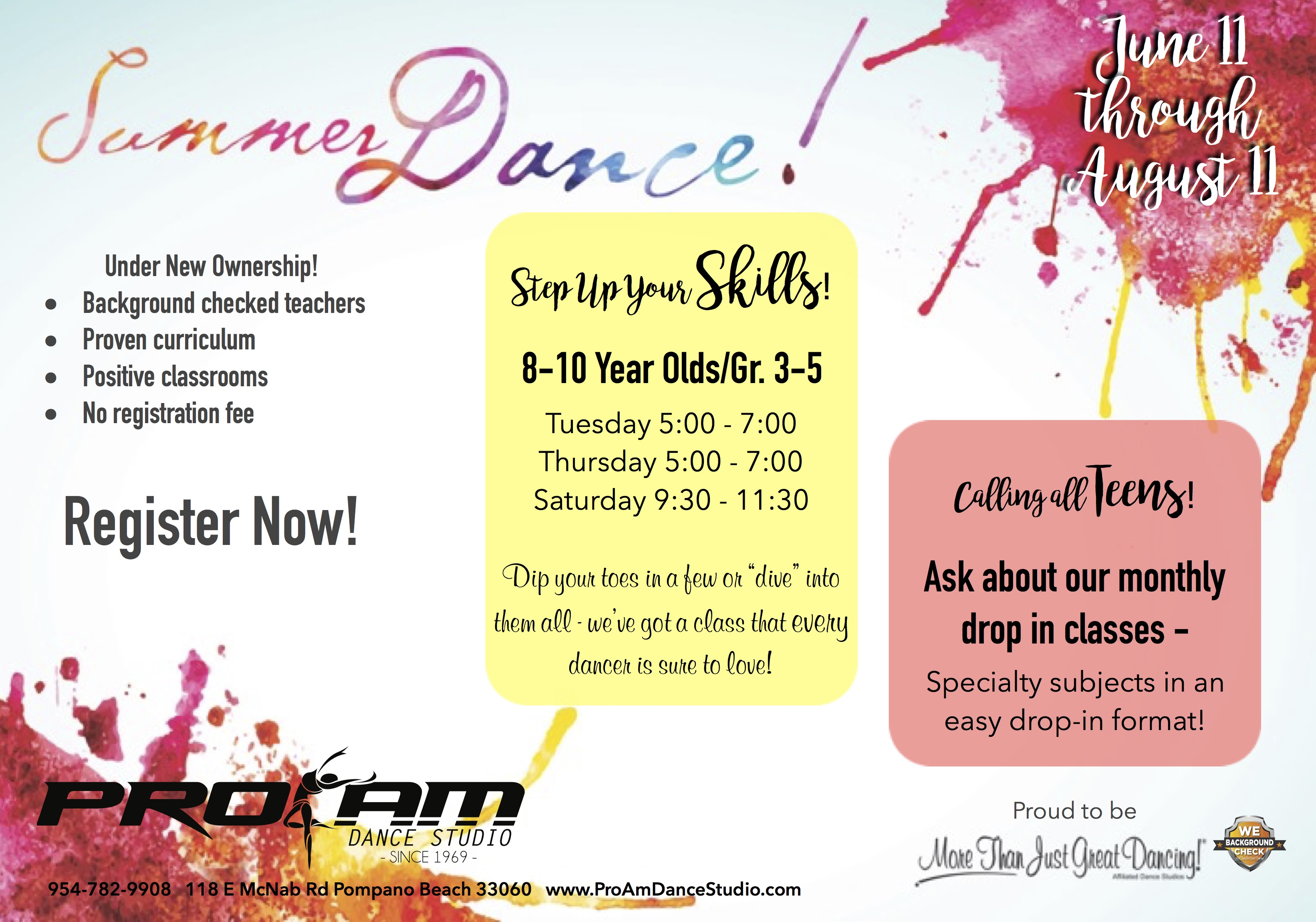 ProAm Dance Studio Registration - Online Registration for ProAM ...